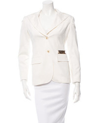 Versace Tonal Stitched Dual Button Closure Blazer W Tags