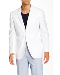 U.S. Polo Assn. Us Polo Assn White Hopsack Two Button Modern Fit Sport Coat