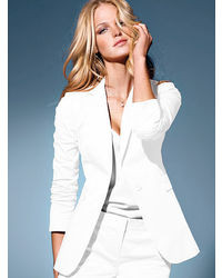 Womens White Blazer Jacket Photo Album - Reikian