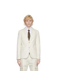 Fendi White Cotton Sports Blazer