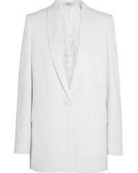 Givenchy White Stretch Cady Blazer