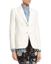 Gucci White Techno Cotton Silk Jacket