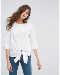 Pieces Ally Tie Front Blouse
