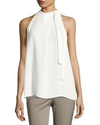 Theory Bow Detail Crepe Top