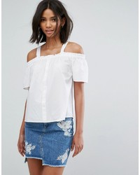 Only Button Up Bardot Top