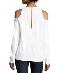 Rag & Bone Collingwood Cold Shoulder Long Sleeve Top White