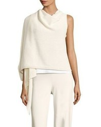 Eileen Fisher Cotton Blend Wrap Top