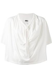 MM6 MAISON MARGIELA Drawstring Collar Blouse