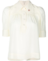 Marc Jacobs Half Sleeve Heart Collar Blouse