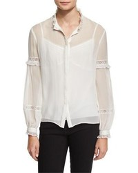 Needle & Thread Long Sleeve Lace Inset Top