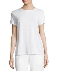 Eileen Fisher Slubby Organic Cotton Short Sleeve Top Plus Size