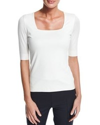 Akris Punto Square Neck Half Sleeve Top