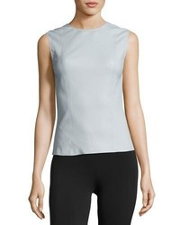 Helmut Lang Stretch Leather Shell Top Opal