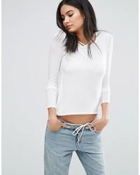 Daisy Street Top With Strappy Neck Detail