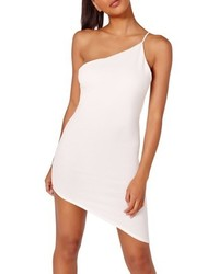 Missguided Asymmetrical One Shoulder Body Con Dress