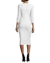 Chiara Boni La Petite Robe Custom Collection Serenity 34 Sleeve Body Conscious Dress