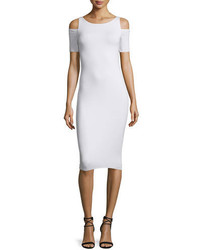 Bailey 44 Deneuve Cold Shoulder Bodycon Dress White