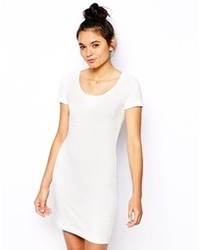 Esprit Jaquard Body Conscious Dress White