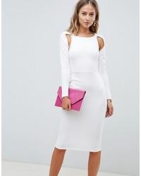 ASOS DESIGN Long Sleeve Pencil Midi Dress
