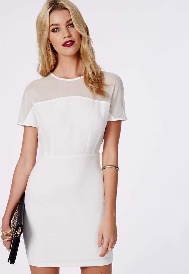 White dress cap sleeves