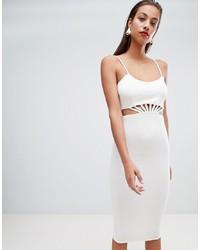 ASOS DESIGN Strappy Cut Out Waist Midi Dress