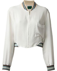 White Bomber Jackets for Women | Women's Fashion