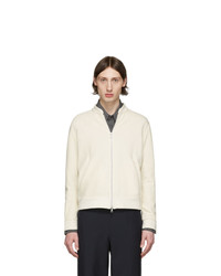 Harris Wharf London Off White Reverse Loopback Bomber