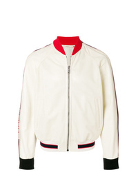 Gucci Perforated Bomber With Logo