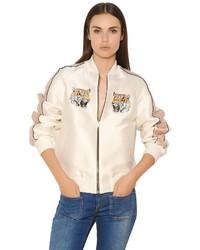Stella McCartney Tiger Cotton Duchesse Bomber Jacket