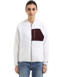 Wood wood fleece bomber jacket medium 4417682
