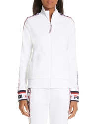 Fendi X Fila Mania Logo Zip Jersey Jacket