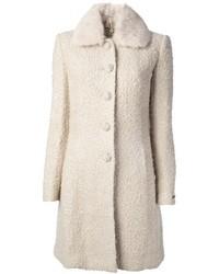 White Boucle Coat