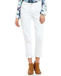 Code Bleu Kelly Destructed Boyfriend Jeans
