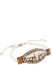 Chan Luu 6 Pull Tie White Mix Single Bracelet