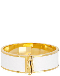 Diane von Furstenberg Frankie Leather Hinge Bangle