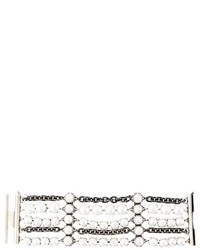 Lanvin Faux Pearl Chain Bracelet