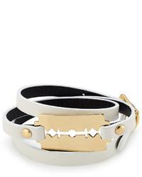 McQ by Alexander McQueen Mcq Alexander Mcqueen Leather Bracelet With Razor Blade Motif