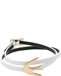 McQ by Alexander McQueen Mcq Alexander Mcqueen Leather Bracelet With Swallow Motif