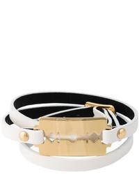 McQ by Alexander McQueen Mcq Alexander Mcqueen Razor Triple Wrap Bracelet