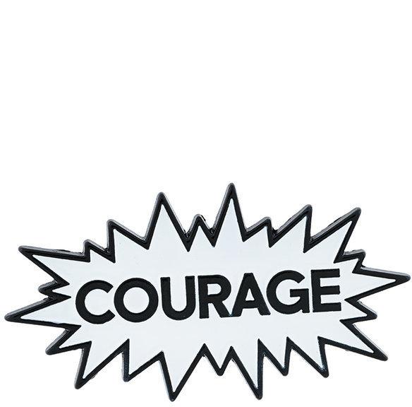 MAISON KITSUNE Maison Kitsun Courage Brooch