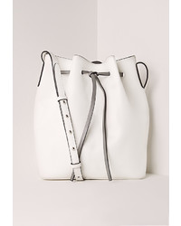 Missguided Bucket Bag White