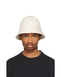 Jil Sander Beige Herringbone Hat