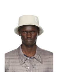 Thom Browne Off White Shearling Bucket Hat