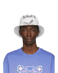 Kenzo White Sport Logo Bucket Hat