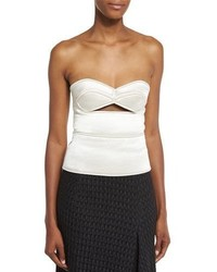 Victoria Beckham Sweetheart Neck Bustier Top Wcutout Off White