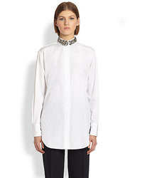 ADAM by Adam Lippes Adam Lippes Embellished Collar Shirt