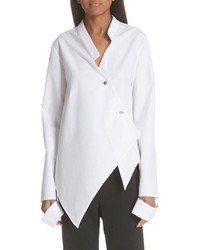 Ji Oh Asymmetrical Button Front Shirt