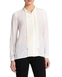 Burberry Brit Silk Pintuck Blouse