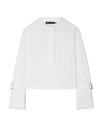 Proenza Schouler Cropped Stretch Cotton Poplin Shirt