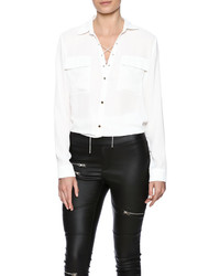 Sisters Lace Up Blouse